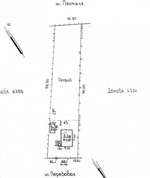 Продам участок с домом  44м.кв, (электричество, газ, водопровод- скважина).  2 к 622985