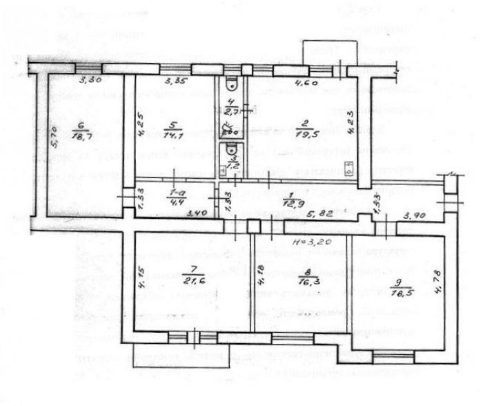Центр. М. Университет. Пр. Правды-ул. Сумская – Квартира-Офис.Продам 5-комнатную 617166