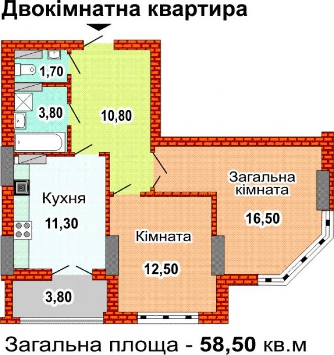 Предлагаю на продажу 2-комнатную квартиру в новостройке по адресам: пр. Феодосий 617263