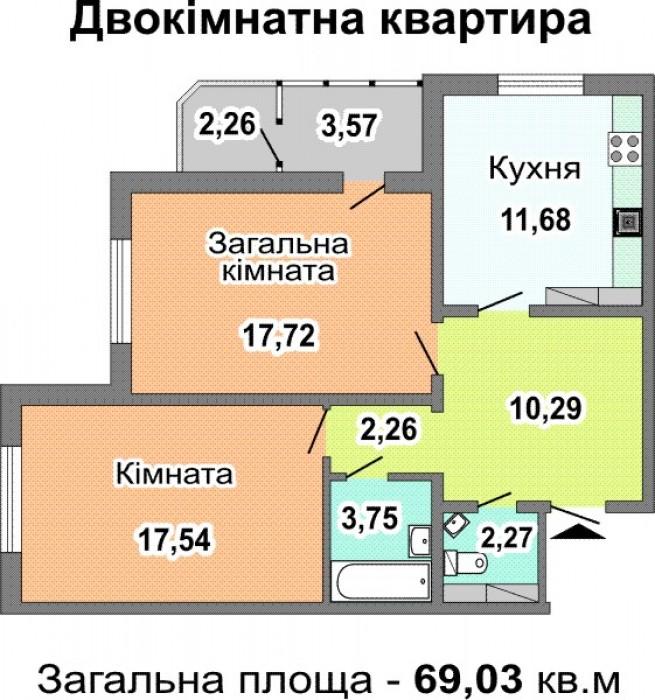 Предлагаю на продажу 2-комнатную квартиру в новостройке по Ревуцкого 7в (фактиче 617265