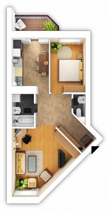 Продаётся двухкомнатная квартира в новостройке от застройщика. Дом находится в н 617441