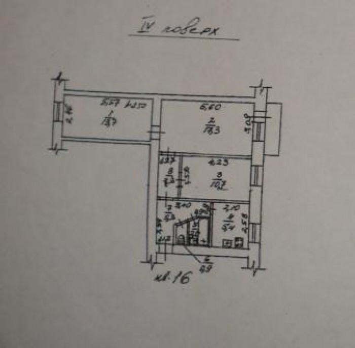 Комнаты смежно-раздельные 14, 17 и 11 кв.м. 4 эт. Кухня - 6 кв.м. Балкон застекл 617459