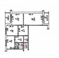 СРОЧНО!!!Продам 3-х комнатную квартиру улучшенной планировки квадратный холлПлощ 616963