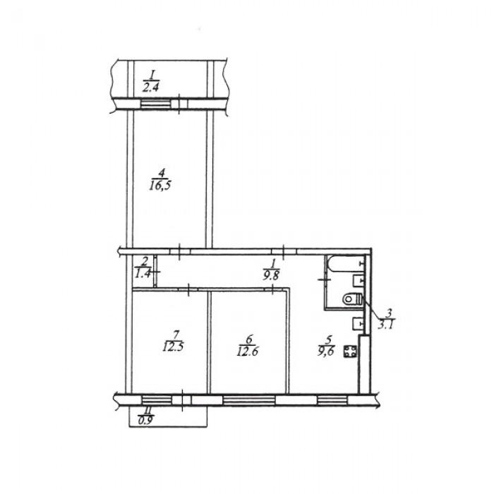 Продам большую 3-комнатную квартиру на Тополь-2.Квартира очень светлая и чистая. 617768