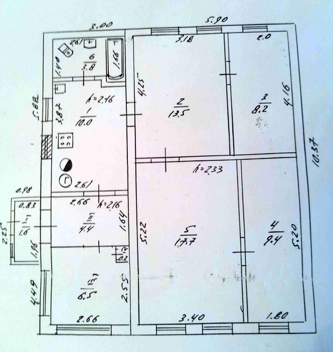 Продам дом в Петровском районе 75 м.кв., участок 15 соток.1 этаж, 4 комнаты, газ 623318