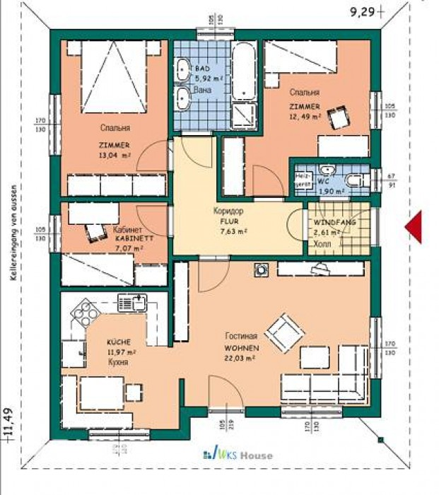 Продам дом на ВеретиновкеПостроен в декабре 2011 года. Дом по немецкой технологи 623361