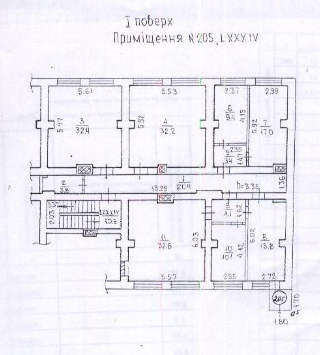 в ДНЕПРОПЕТРОВСКЕ ВИП ОФИС НА 65 РАБОЧИХ МЕСТ,376 кв.м. - 2 этажа ул.Титова, 18- 643184