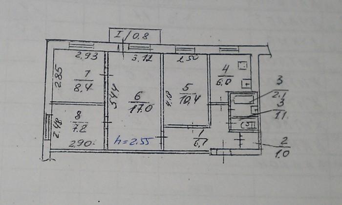 Срочно продам 4-х комнатную квартиру на ул. Осенняя (красная линия). Пластиковые