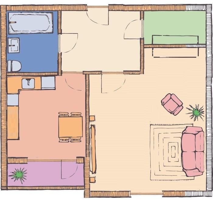 1-но комнатная квартира 40,08 кв.м в ЖК Чайка