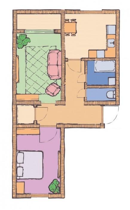 2-х комнатная квартира 63,53 кв.м в ЖК Чайка