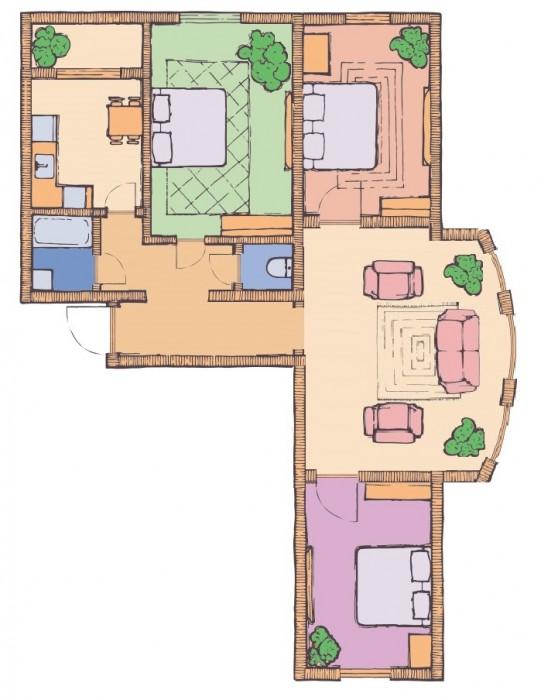 3-х комнатная квартира 106,26 кв.м в ЖК Чайка