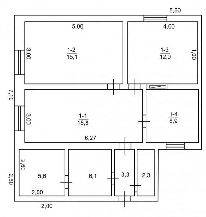 Часть дома в Камышанах  площадью 72 кв.м. по цене 1 комнатной квартиры