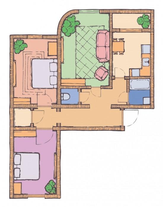 3-х комнатная квартира 86,11 кв.м в ЖК Чайка