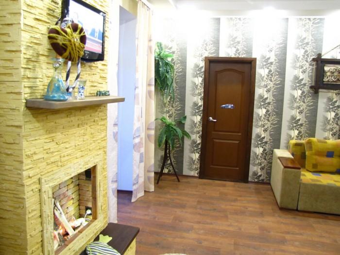 Уютная 2х-ком студия с декор.камином в самом сердце Чернигова!