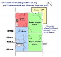 Продам двух комнатную квартиру на Таврическом