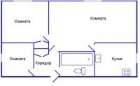 Продаётся 3-х комнатная квартира не дорого - спальный р-н г. Харцызска (Коммунист)